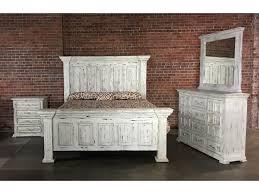 Vintage White Bedroom Mirrors Vintage Chalet Queen Nero White Bed Dresser Mirror U0026 Nightstand