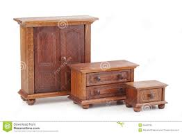 Wooden Furniture Doll Wooden Furniture Set Wardrobe Chest Of Drawers And Nights