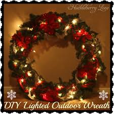 huckleberry diy lighted outdoor wreath tutorial