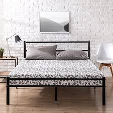 headboard reading ls bed amazon com zinus metal platform bed frame with headboard and