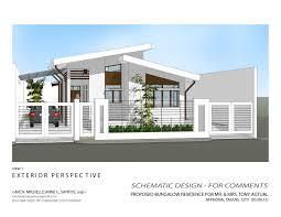 simple bungalow house floor plan