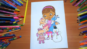 doc mcstuffins new coloring pages for kids colors coloring colored