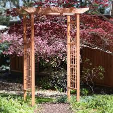 Pergola Or Trellis by Amazon Com Wood Garden Arbor Arch Trellis Pergola Wedding Large