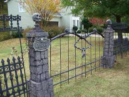 Decorations Halloween Cemetery Props by Skull Wood Fence Diy Google Search Cemetery Entrances For