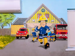 fireman sam mural boy s room mural with characters from cars boy s room mural with cars mcqueen mater buzz lightyear fireman sam and thomas the tank