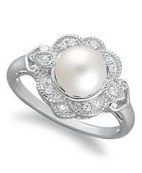 v shape diamond with fresh water pearl ring christine k jewelry pearl ring pave set diamond stimulant halo engagement ring bridal
