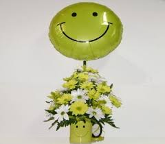 Smiley Face Vase Get Well Flowers Delivery Herndon Va Herndon Florist Inc