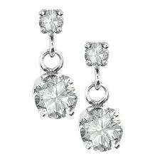 diamond dangle earrings jewelry collection white gold 2 diamond drop dangle earrings