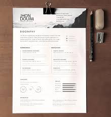 Free Creative Resume Design Templates Free Clean Realistic Resume Cv Template Psd Titanui Brand