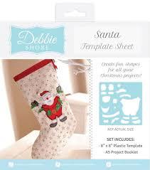 debbie shore christmas fabric shape templates designs full range