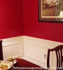 Definition Of Wainscot Dining Room Upgrade Add Picture Molding Beneath A Chair Rail