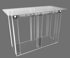 Clear Acrylic Desk Table Clear Acrylic Plexiglass Church Communion Table Desk 11461 Glue