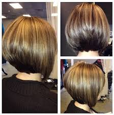 front and back views of chopped hair daily hair ideas stacked bob hairstyle for women side back