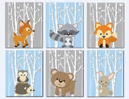 Raccoon Nursery Decor Woodland Nursery Wall Forest Animals Wall Wall