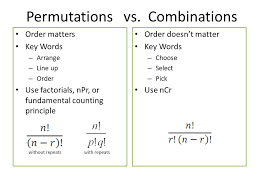 warm up which of the following are combinations ppt video