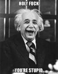You Re Stupid Meme - holy fuck you re stupid laughing albert einstein make a meme