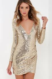 glitter dresses for new years pretty gold dress sequin dress sleeve dress 54 00