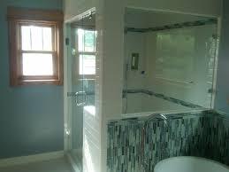 Glass Tile Bathroom Designs Bathroom Bathroom Small Walk In Shower Design With Shower Bench