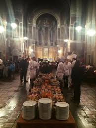homeless wealthy sit side by side at nyc church dinner ny daily