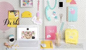 Colorful Desk Accessories Accessorizing A Desk Twoinspiredesign
