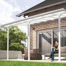 comment fermer une pergola pergola toit terrasse aluminium et polycarbonate 4x3 m blanc