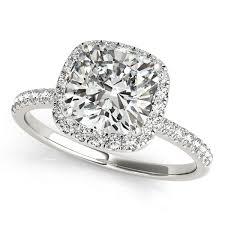 white stones rings images Gold engagement ring original cushion cut halo diamond side stones jpg