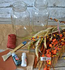 painted mason jars fall centerpieces building our story