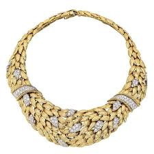 collar diamond necklace images David webb gold pav diamond collar necklace at 1stdibs jpg