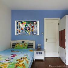 toy story wall stickers fake window movie poster for children room