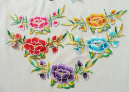 buy 2iron sew appliques clothing flower embroidery patch