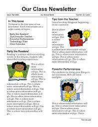 elementary newsletter template 21 best classroom newsletters
