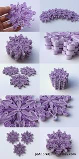 snowflakes purple frosty christmas tree decoration winter