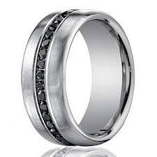 mens white gold diamond wedding bands designer 14k white gold men s eternity band black diamond 7 5mm