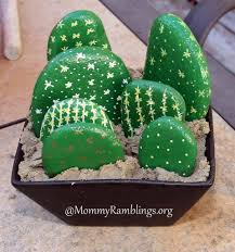 Painted Rocks For Garden by Make A Painted River Rock Cactus Garden Fun Craft Idea U2022 Mommy