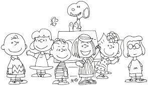 free charlie brown snoopy and peanuts coloring pages free whole