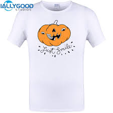 just smile halloween t shirt design mens summer short sleeve t