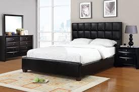 High Bed Frame Queen Bed Black Leather Bed Frame Home Interior Design