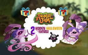 2 hidden halloween items on animal jam youtube