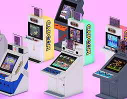 low poly isometric arcade cabinets on behance