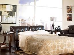 ashley 946 03 39 chocolate bonded leather sofa sleeper