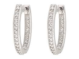 small diamond hoop earrings small oval hoop earring white gold mccaskill company
