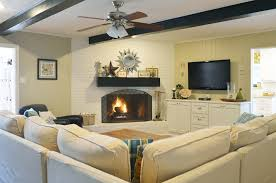 Cool Room Setups Cool Slipcovered Sofa In Living Room Traditional With White Brick