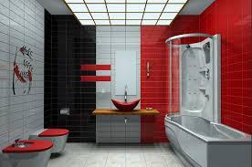 badezimmer rot coole badezimmer fliesen modern mit kombination rot weiß und
