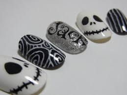 jack skellington nail art the nightmare before christmas