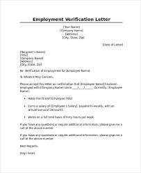 Document Certification Letter Sle Employment Verification Letter Template Word 100 Images 6