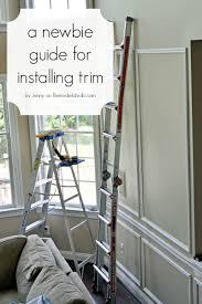 remodelaholic beginner tips and tricks for installing trim
