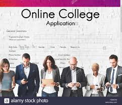 online collage application document form concept stock photo