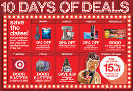 target black friday 2016 out door flyer target unveils holiday savings with 10 days of deals