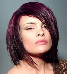 Bob Frisur Schnell Stylen by Frisuren Mittellang Farbe Magenta Lila Aubergine Haar Stylen Mode
