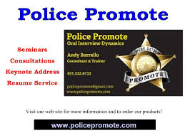 Police Promotion Resume Police Promotion Oral Interview Dynamics